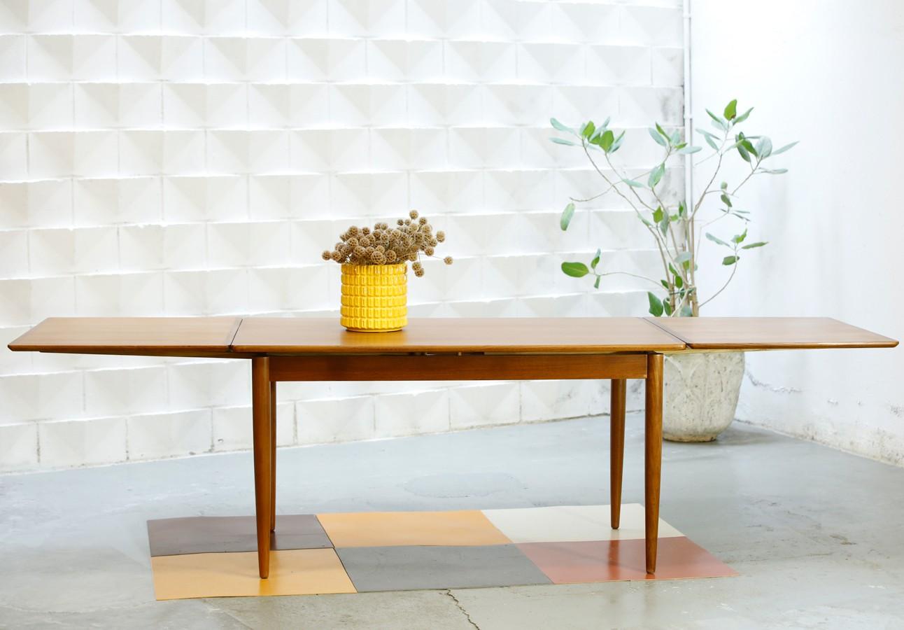 Mesa de teca extensible 60s
