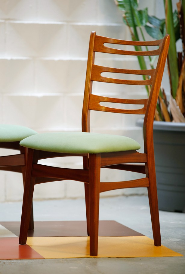Set de 4 sillas teca