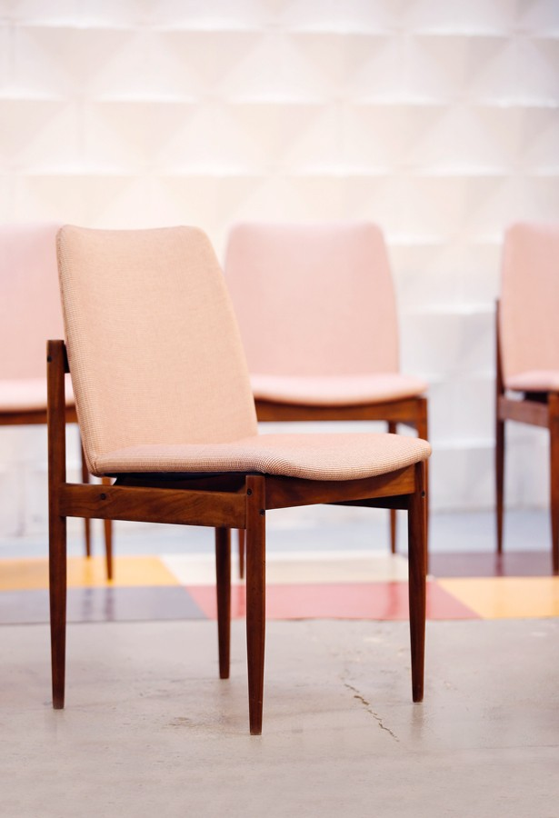 Set de 4 sillas años 60