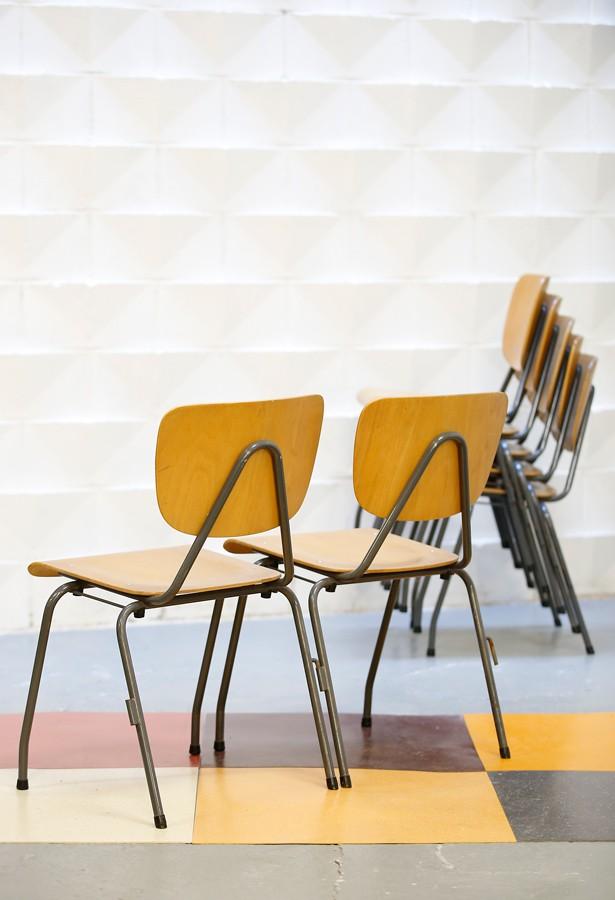 Silla de colegio años 60