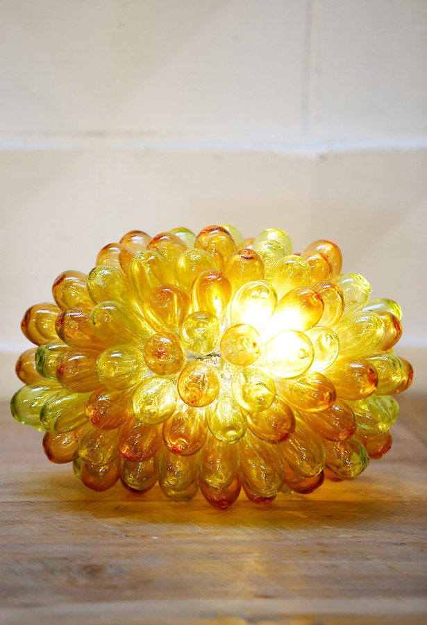 Lámpara de vidrio artesanal