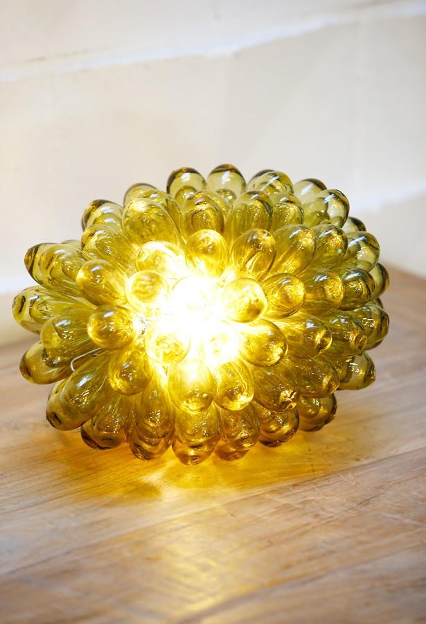 Lámpara vidrio artesanal