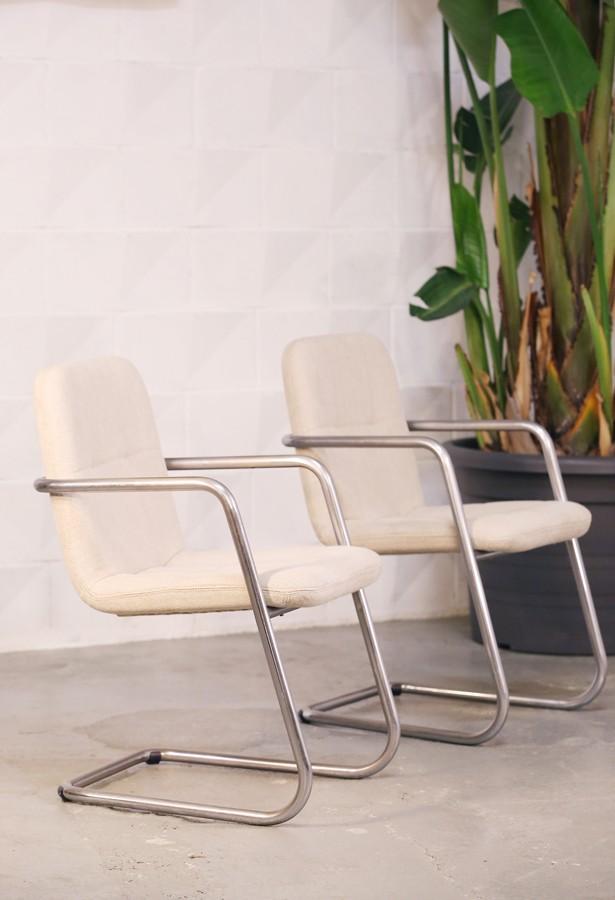 Pareja de sillas confidente