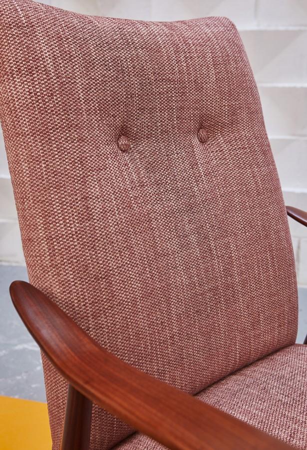 Butaca teca vintage nórdica años 60 midcentury la victoriana