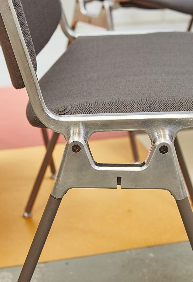 Juego de 4 sillas Castelli-giancarlo piretti-industrial-años 60-vintage-la victoriana