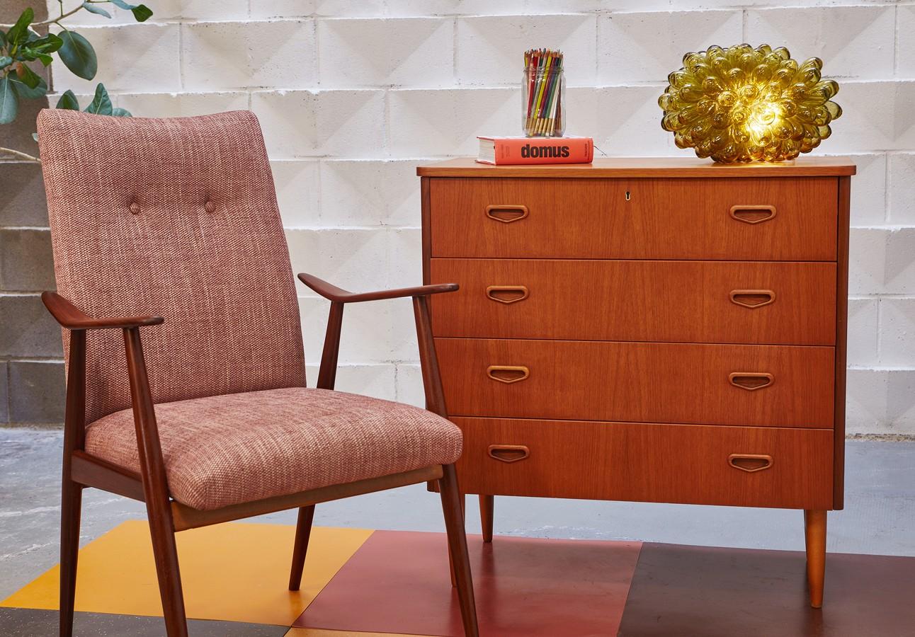 Cómoda -años 60-vintage-danesa-danish modern- teca-la victoriana