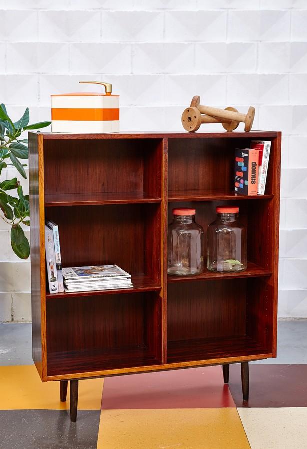 estantería-hundevad-palosanto-rosweood-dansish design-vintage-la victoriana-años 60