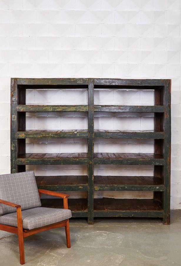 estantería-madera maciza-antigua-palisandro-original-vintage-rustico-la victoriana