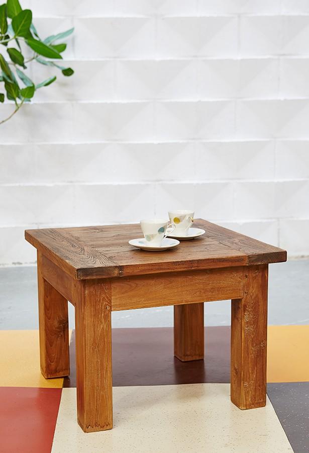 Mesa auxiliar teca antigua