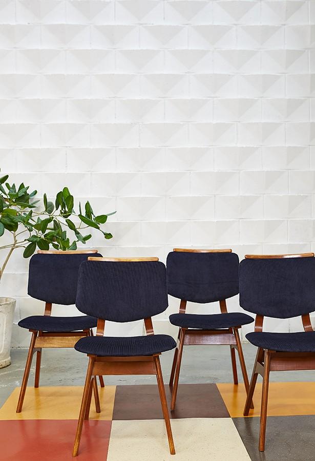 Conjunto sillas años 60