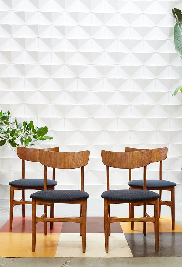 conjunto-cuatro-sillas-danesas-vintage-años60-lavictoriana