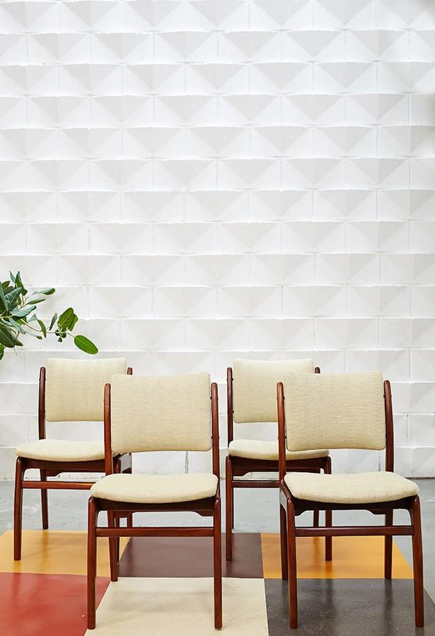 Conjunto de sillas teca 60s