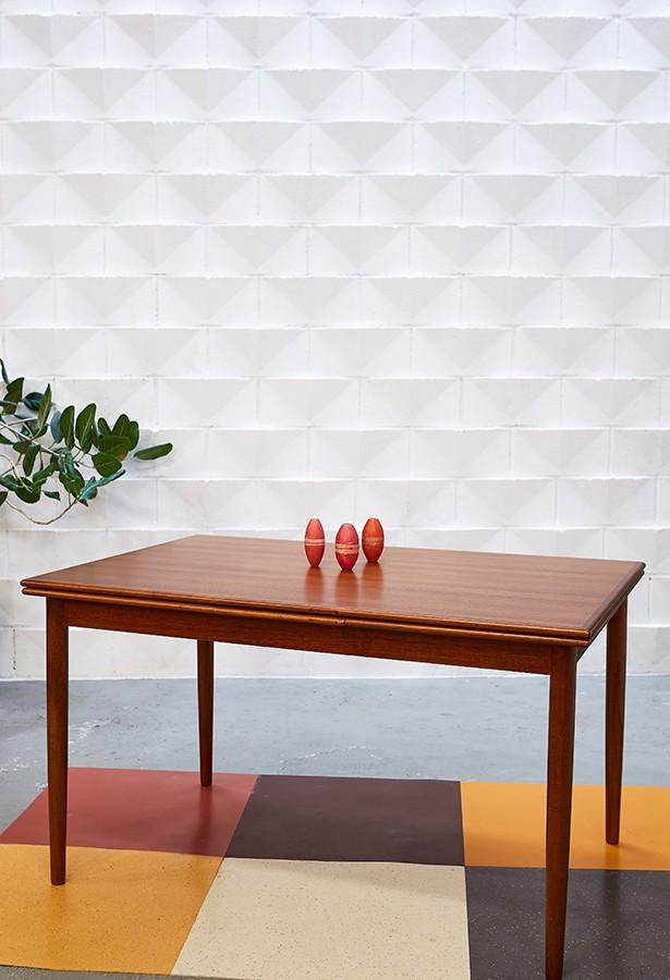 Mesa teca extensible