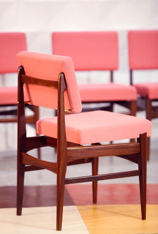 Set de 4 sillas caoba